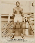 Boxing Collectibles:Autographs, 1950's Jackie Wilson Signed Photograph. ...