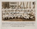 Baseball Collectibles:Photos, 1938 New York Giants Team Signed Photograph....