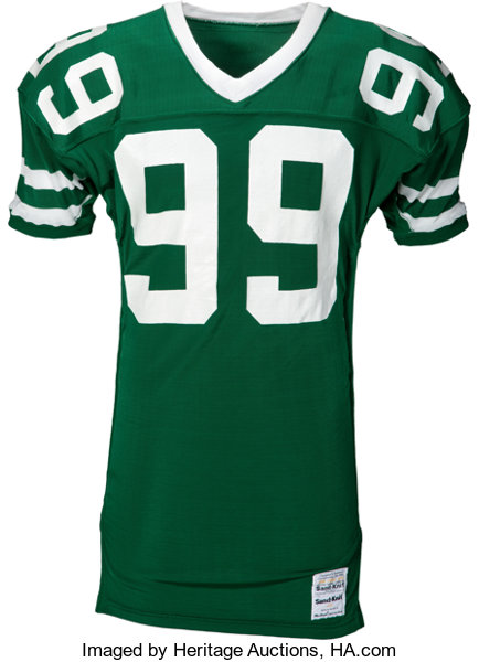 1987 Mark Gastineau Game Issued New York Jets Jersey.... Football ... a451cb68b