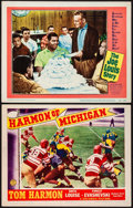 """Movie Posters:Sports, Harmon of Michigan & Other Lot (Columbia, 1941). Lobby Cards (2) (11"""" X 14""""). Sports.. ... (Total: 2 Items)"""
