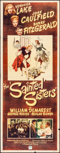 "Movie Posters:Comedy, The Sainted Sisters (Paramount, 1948). Insert (14"" X 36""). Comedy.. ..."