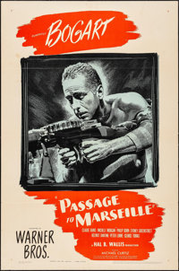 "Passage to Marseille (Warner Brothers, 1944). One Sheet (27"" X 41""). War"
