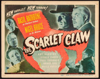 "The Scarlet Claw (Universal, 1944). Title Lobby Card (11"" X 14""). Mystery"