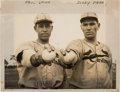 Baseball Collectibles:Photos, 1934 Dizzy Dean & Paul Dean Original News Photograph from The Gene Kirby Collection. ...