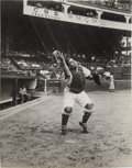 Baseball Collectibles:Photos, Circa 1950 Roy Campanella Original News Photograph Used for 1951Bowman Card from The Gene Kirby Collection, PSA/DNA Type 1. ...