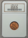 Lincoln Cents: , 1941-D 1C MS67 Red NGC. NGC Census: (921/0). PCGS Population: (218/0). CDN: $100 Whsle. Bid for problem-free NGC/PCGS MS67....