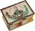 Political:3D & Other Display (pre-1896), Andrew Jackson: Portrait-under-Glass Thread or Notions Box....