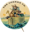 """Political:Pinback Buttons (1896-present), Theodore Roosevelt: The Sought-after """"Teddy in the Ark"""" 1¾"""" Design. ..."""