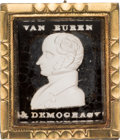 Political:Ribbons & Badges, Martin Van Buren: Rare and Desirable Portrait Sulphide Brooch....