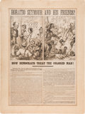 Political:Posters & Broadsides (pre-1896), [Ulysses S. Grant]: Anti-Seymour Broadside by Thomas Nast Directed to African-American Voters....