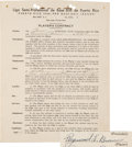 Baseball Collectibles:Others, 1941 Ray Brown Signed Puerto Rican League Contract, Beckett 10....
