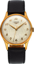 Timepieces:Wristwatch, Longines 14k Gold Center Seconds Wristwatch. ...