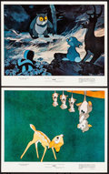 "Movie Posters:Animation, Bambi & Other Lot (Buena Vista, R-1975). Mini Lobby Cards (2) & Photos (5) (8"" X 10""). Animation.... (Total: 7 Items)"