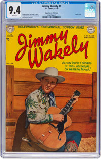 Jimmy Wakely #3 Mile High Pedigree (DC, 1950) CGC NM 9.4 White pages