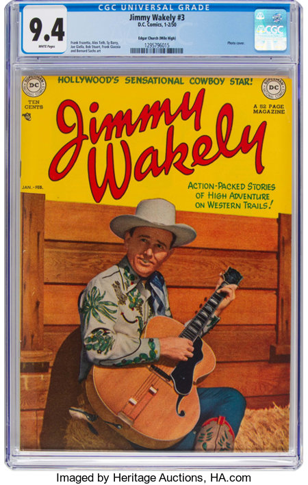 Jimmy Wakely #3 Mile High Pedigree (DC, 1950) CGC NM 9.4 White pages....