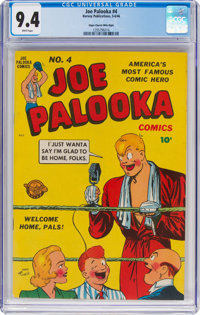 Joe Palooka Comics #4 Mile High Pedigree (Harvey, 1946) CGC NM 9.4 White pages