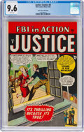Golden Age (1938-1955):Crime, Justice Comics #8 (#2) Mile High Pedigree (Atlas, 1948) CGC NM+ 9.6 White pages....