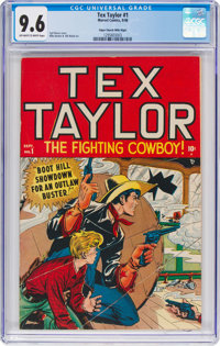 Tex Taylor #1 Mile High Pedigree (Marvel, 1948) CGC NM+ 9.6 Off-white to white pages