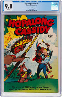 Hopalong Cassidy #9 Mile High Pedigree (Fawcett Publications, 1947) CGC NM/MT 9.8 White pages