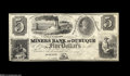 Obsoletes By State:Iowa, Dubuque, Iowa Territory- Miners Bank of Dubuque $5 G4 Oakes 2 Anexcessively rare Iowa Territorial issue. This bank receive...
