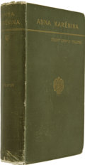 Books:First Editions, Leo Tolstoy. Anna Karenina. New York: Thomas Y. Crowell& Co., [1886]....