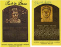 Autographs:Baseballs, Lefty Grove Signed Gold Hall of Fame Plaque. One of the greatestpitchers of all time, Grove let the majors in ERA nine tim...