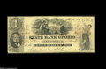 Obsoletes By State:Ohio, Elyria, OH- State Bank of Ohio $1 Feb. 14, 1859 G710a Wolka 1077-05A very scarce note whose survival is likely due to its ...