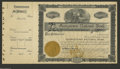 Georgetown, IL - Georgetown National Bank Three Consecutive Unissued Stock Certificates. This bank was charter number 73...