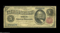 Error Notes:Large Size Errors, Fr. 267 $5 1891 Inverted Reverse Silver Certificate Very Good. Well circulated and with a corner tip off, hardly high grade,...