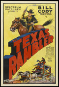 "Movie Posters:Western, The Texas Rambler (Spectrum, 1935). One Sheet (27"" X 41"").Western...."