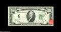 Error Notes:Missing Third Printing, Fr. 2011-B $10 1950A Federal Reserve Note. Choice Crisp Uncirculated. An obstruction lying on the left-side of this $10 caus...