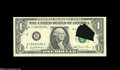Error Notes:Foldovers, Fr. 1911-B $1 1981 Federal Reserve Note. Choice About Uncirculated.A large internal tear before the first printing produced...