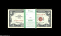 Small Size:Legal Tender Notes, Fr. 1513 $2 1963 Legal Tender Note. Original pack of 100. Gem Crisp Uncirculated. A crackling-fresh pack of 100 pieces, eac... (100 notes)