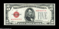 Small Size:Legal Tender Notes, Fr. 1527* $5 1928B Legal Tender Note. Crisp Uncirculated. Here is a fully embossed and totally original piece which is Gem,...