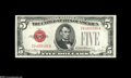 Small Size:Legal Tender Notes, Fr. 1531 $5 1928F Legal Tender Notes. Changeover Pair Narrow/Wide I. Gem Crisp Uncirculated. A virtually flawless changeove... (2 notes)