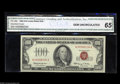 Small Size:Legal Tender Notes, Fr. 1550 $100 1966 Legal Tender Note. Gem Crisp Uncirculated. A second CGA graded example, this a very nicely centered piec...