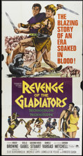 """Movie Posters:Adventure, The Revenge of Spartacus (Paramount, 1965). Three Sheet (41"""" X81""""). Also know as Revenge of the Gladiators. Adventure...."""