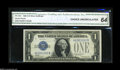 Small Size:Silver Certificates, Fr. 1603 $1 1928C Silver Certificate. CGA Choice Uncirculated 64. The 1928C is only overshadowed by the heralded 1928E in t...