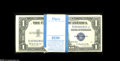 Small Size:Silver Certificates, Fr. 1618 $1 1935H Original Pack of 100 Silver Certificates. Choice Crisp Uncirculated. A handful of stars are noticed in th... (100 notes)