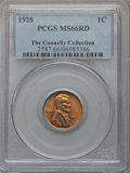 Lincoln Cents: , 1928 1C MS66 Red PCGS. Ex: The Connelly Collection. PCGS Population: (418/67). NGC Census: (99/12). CDN: $180 Whsle. Bid fo...