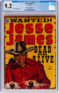 Jesse James #6 Mile High Pedigree (Avon, 1952) CGC NM- 9.2 Off-white to white pages