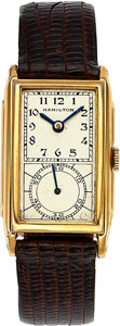 "Timepieces:Wristwatch, Hamilton ""Seckron"" Doctor's Watch 980B Grade, circa 1940. ..."