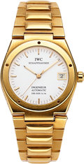 "Timepieces:Wristwatch, IWC Ref. 9239 Gold ""Ingenieur"" Automatic, Officially Certified Chronometer. ..."