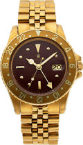 Timepieces:Wristwatch, Rolex, Oyster Perpetual GMT-Master, Ref. 1675, 18K YG on Jubilee Bracelet, Circa 1972 . ...