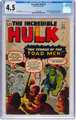 The Incredible Hulk #2 (Marvel, 1962) CGC VG+ 4.5 Off-white to white pages