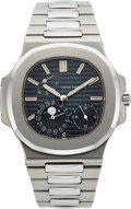 Timepieces:Wristwatch, Patek Philippe Ref. 5712/1a Nautilus, Automatic in Steel, Box andPapers. ...