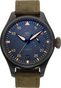 Timepieces:Wristwatch, IWC, Big Pilot, Top Gun Miramar Automatic 7-Day, Ceramic, Ref.IW5019-02, Circa 2012. ...