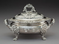 A Joseph Craddock & William Ker Reid George III Silver Covered Sauce Tureen, London, 1820 Marks: (lion passant) (c...