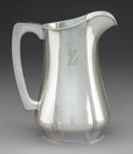 Silver & Vertu:Hollowware, A Kalo Shop Silver Water Pitcher, Chicago, Illinois, circa 1915. Marks: STERLING, HANDWROUGHT, AT, THE KALO SHOP, 10. ...