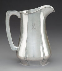 A Kalo Shop Silver Water Pitcher, Chicago, Illinois, circa 1915 Marks: STERLING, HANDWROUGHT, AT, THE KALO SH